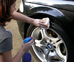 use bumper & tyre dressing