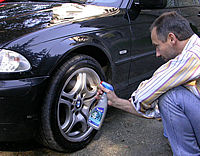 use wheel cleaner